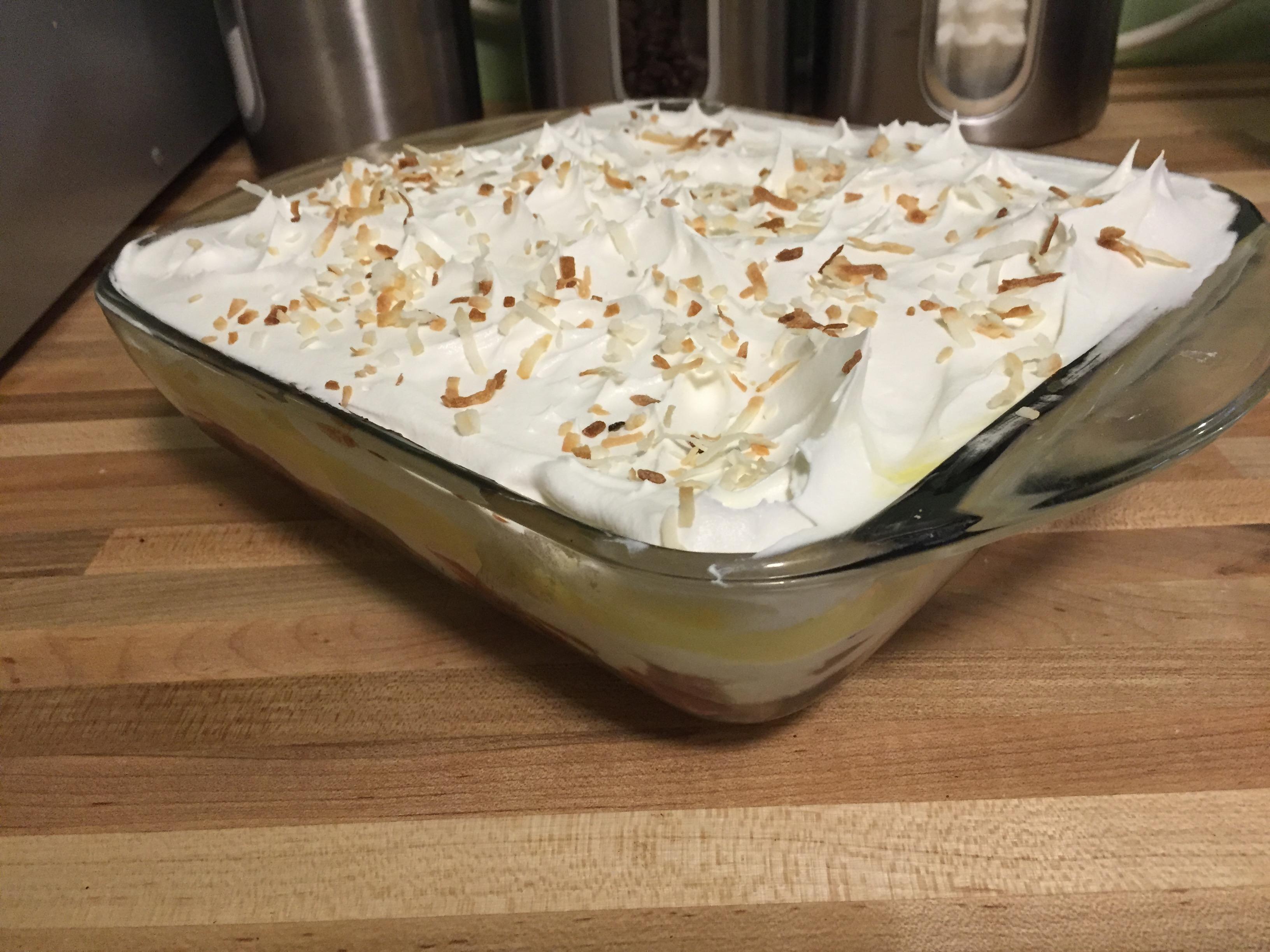 Low-cal Banana Split Pudding Desert